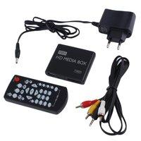 10 шт. dvd vcd игроки мини Полный 1080 P HD медиаплеер ящик MPEG MKV/H.264/HDMI AV USB + пульт