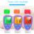 Bebé Electrónico Termómetro Infrarrojo Sin contacto del Termómetro Gran Pantalla de Lectura Digital de Fondo de Tres colores Pronta