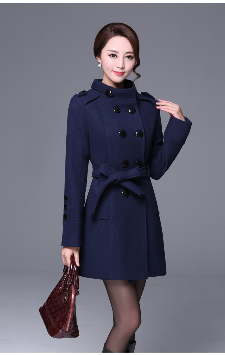 2019 Europe Elegant Slim   Trench   Coat Fashion Double Breasted Casual   Trench   Coat For Women Plus Size Roupas Feminina Hot Classic