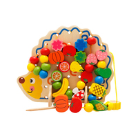 Fruit Shape Beads String Puzzle Toy Learning Education Wooden Puzzle Toys Montessori Oyuncak Educational Toy For Children