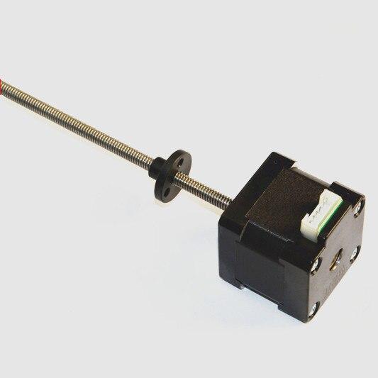 Linear stepper motor Nema 17 threaded rod stepper motor with 280mm Tr8*8mm lead screw for 3D printer z axis nema23 linear stepper w 310mm tr10 4 lead screw for 3d printer desktop straight screw motor