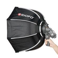 Софтбокс TRIOPO 55 см с восьмиугольным зонтиком и ручкой для Godox On-Camare Flash speedlite аксессуары для фотостудии софтбокс