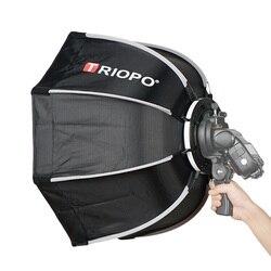 TRIOPO 55cm Octagon Umbrella Softbox with handle For Godox On-Camare Flash speedlite photography studio accessories soft Box