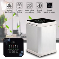 3 In 1 Negative Ion Desktop Air Purifier Ionizer Activated Carbon Air Filter For Home Office