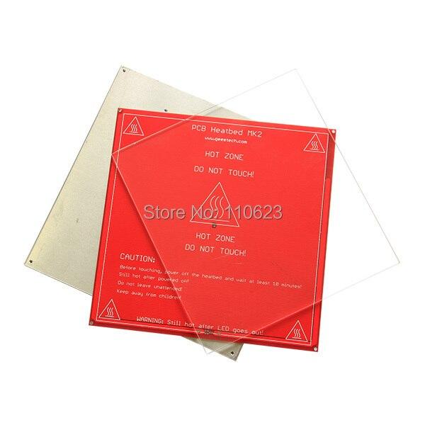 Kits complets de démarrage d'imprimante 3D Ramps1.4, LCD2004, heatbed MK2a, moteur pas à pas Nema17, pilote A4988, plaque d'aluminium - 3