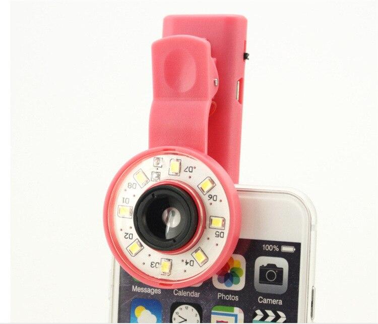 חם סלפי מתכוונן בהיר נייד טבעת פלאש LED אור מלא אור צילום הזרקורים פלאש טלפון נייד עבור iPhone