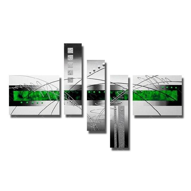 Abstrakte Grüne Farbe Ölgemälde Handgemalte Wandbilder Für ...