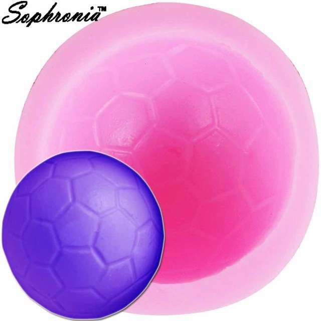 Sophronia 3d Fussball Fussball Silikonformen Kuchen Party Fondant