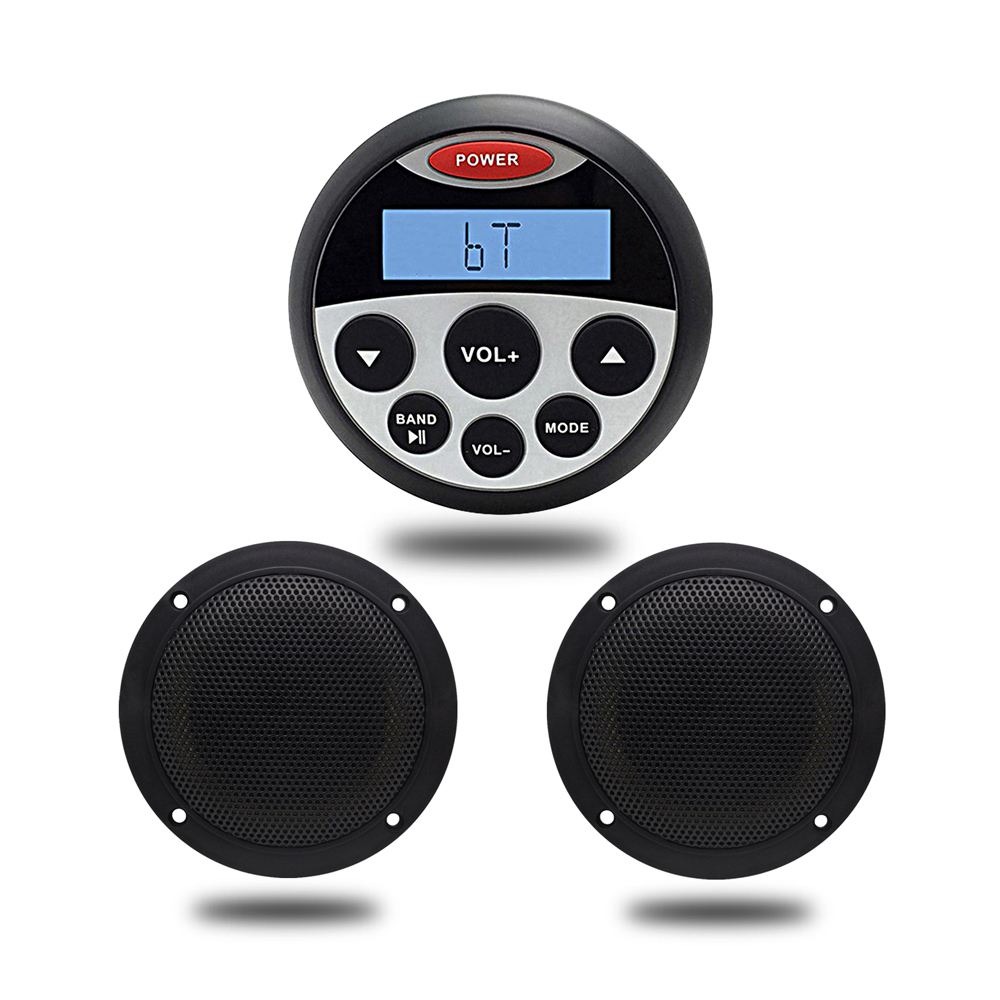 Waterproof Marine Stereo Motorcycle Audio Bluetooth Mp3
