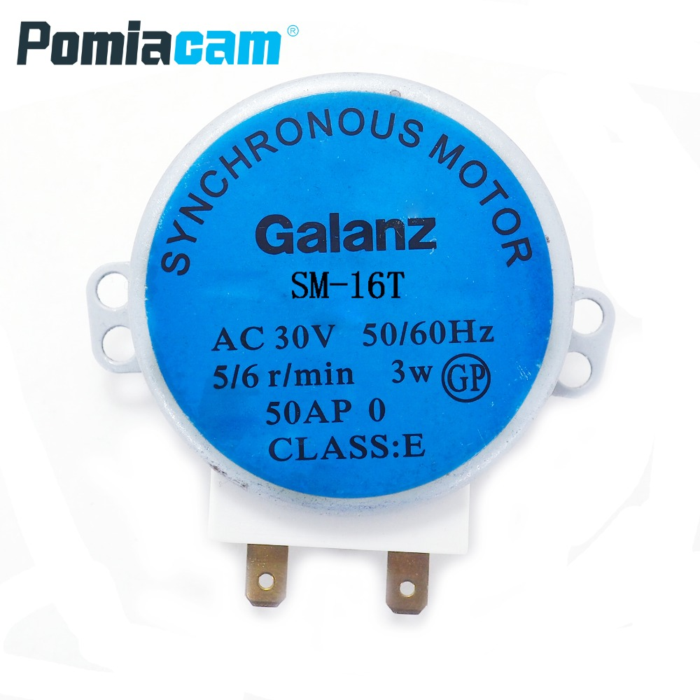 SM-16T AC 30V  Microwave Turntable Turn Table Motor Synchronous Motor CW/CCW Approx 14mm Spindle Tall Microwave Oven, Electric
