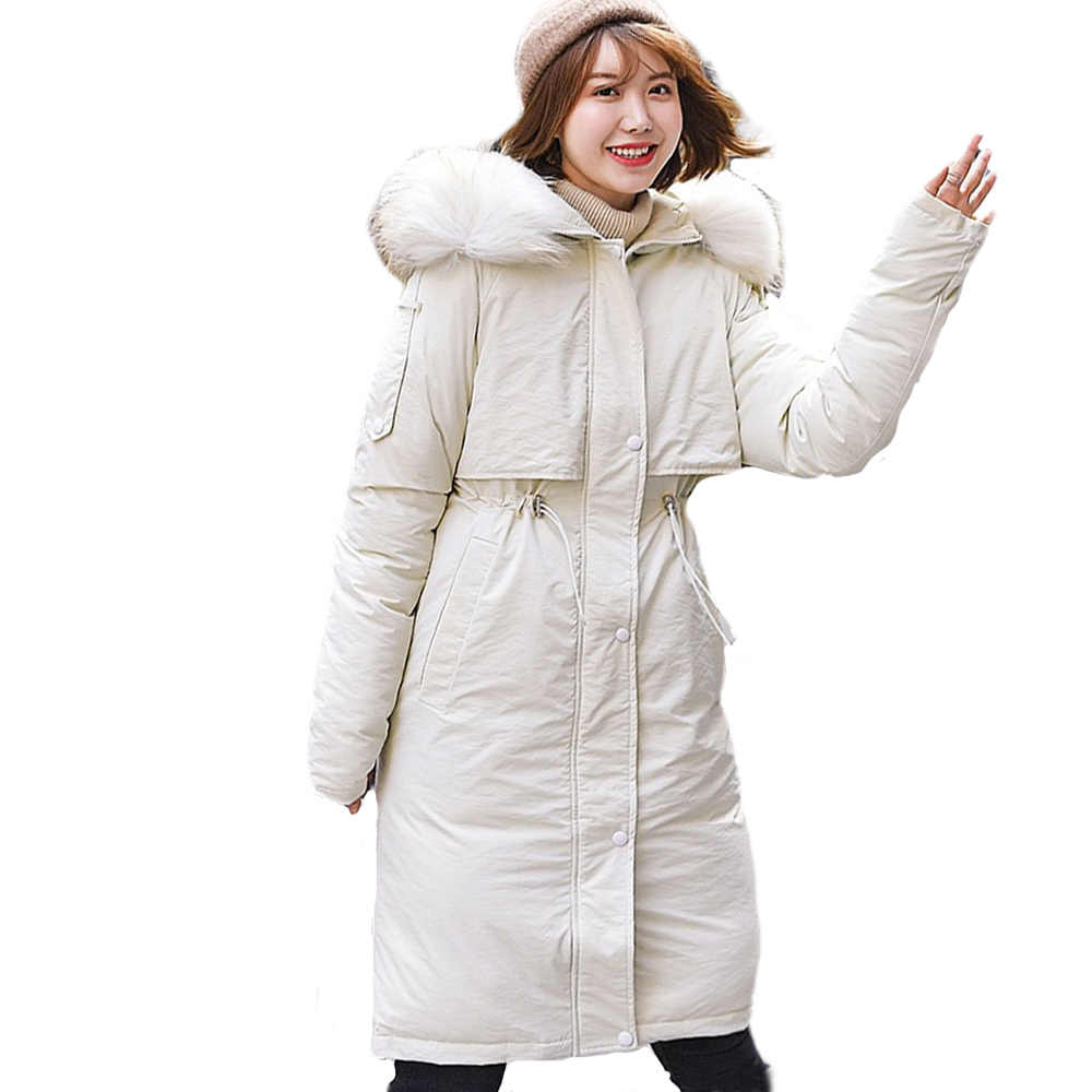 Winterjas Vrouwen dikke Parka vrouwelijke nieuwe grote kraag Koreaanse versie losse en grote katoenen jas jas 988