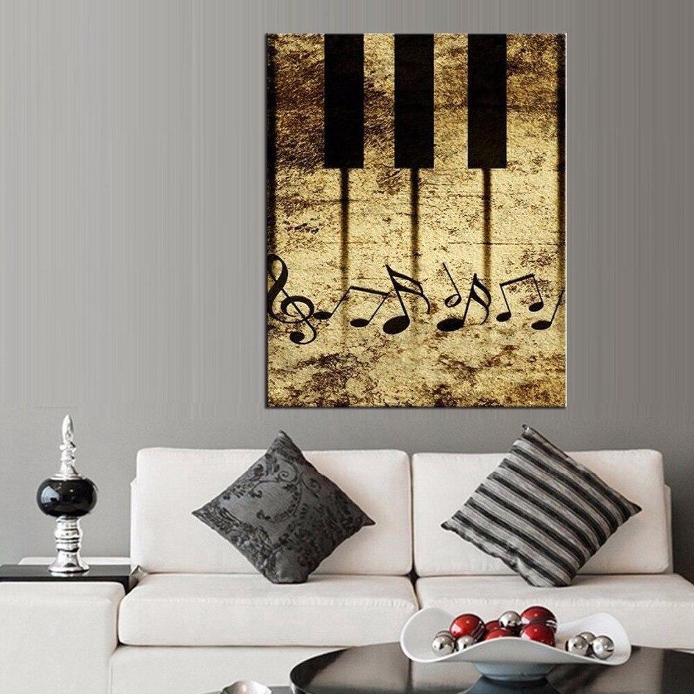 Gerahmte 1 Stück Bild Abstrakt klavier Leinwand Kunstdruck Ölgemälde ...
