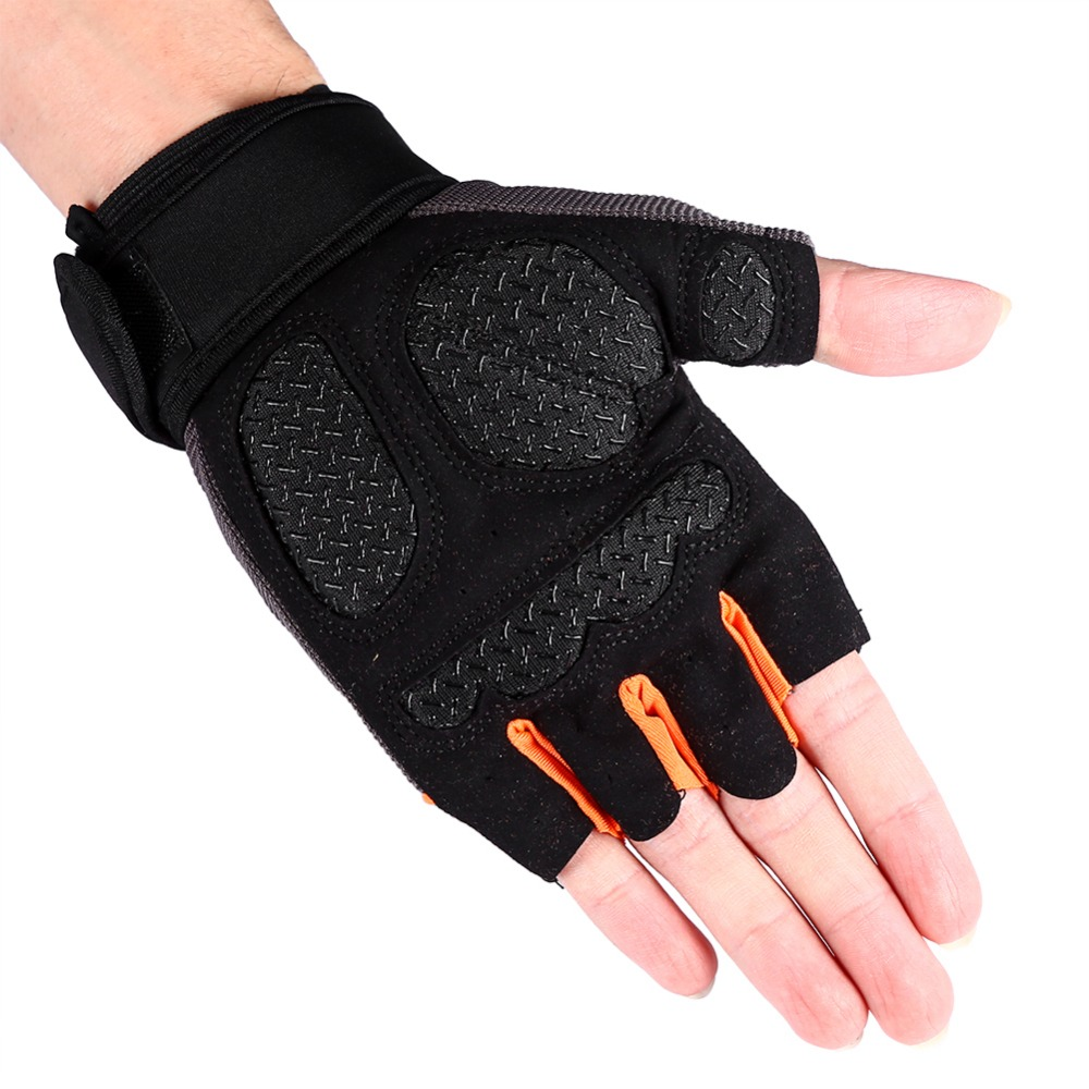 1pair Gym Training Weight Lifting Gloves Men Bar Grip Half