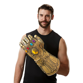 Thanos Infinity Gauntlet Cosplay Avenger Endgame Thanos Glove Avengers Infinity War Latex Handwear Gloves Halloween Party Props avengers infinity war thanos bracelet the power soul stone bangles for women men jewelry gifts