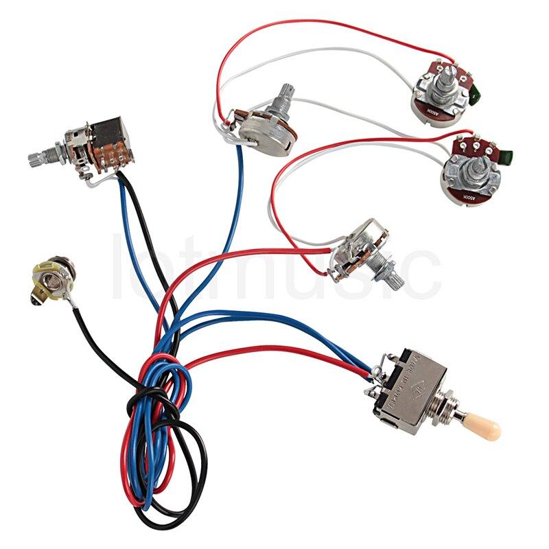electric guitar wiring harness kit 2v 2t pot jack 3 way switch for rh aliexpress com 3-Way Switch Wiring Methods 3-Way Switch Wiring Diagram
