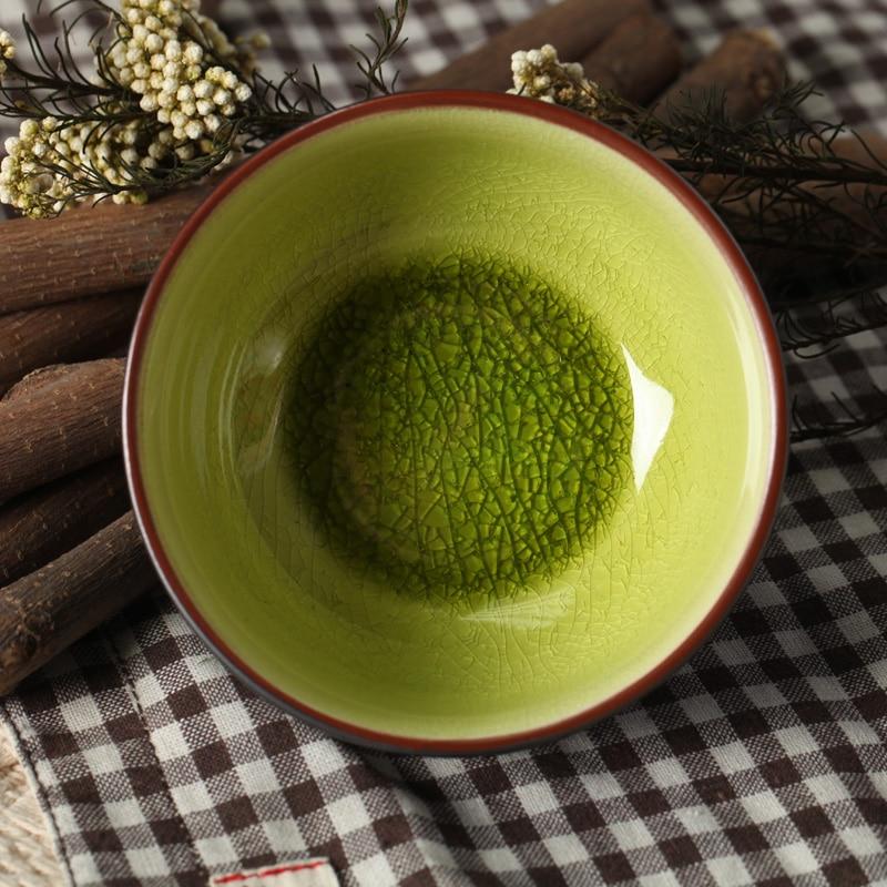 2 Pcs Set Glaze Small Bowl Vintage Crackle Glaze Ceramic