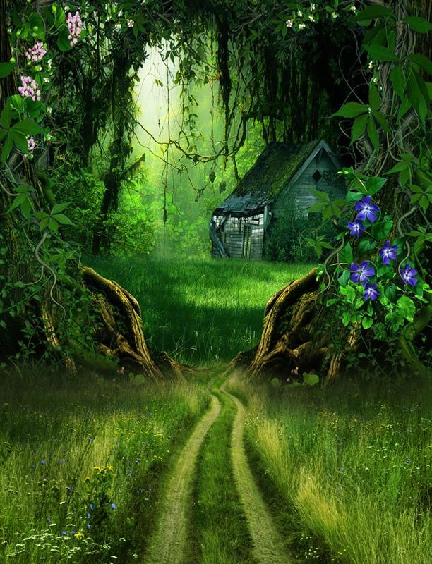 Custom Vinyl Cloth Cinderella Story Forest House