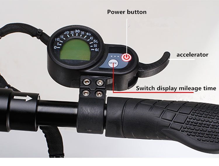 Electric scooter accessories 36v blue screen instrument 10 inch 8 inch scooter universal throttle Accelerator Round