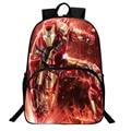 2017 Fashion DC Anime Backpack Avenger Superhero Captain America Iron Man Backpack Student Nylon School Bag For Women Men Laptop