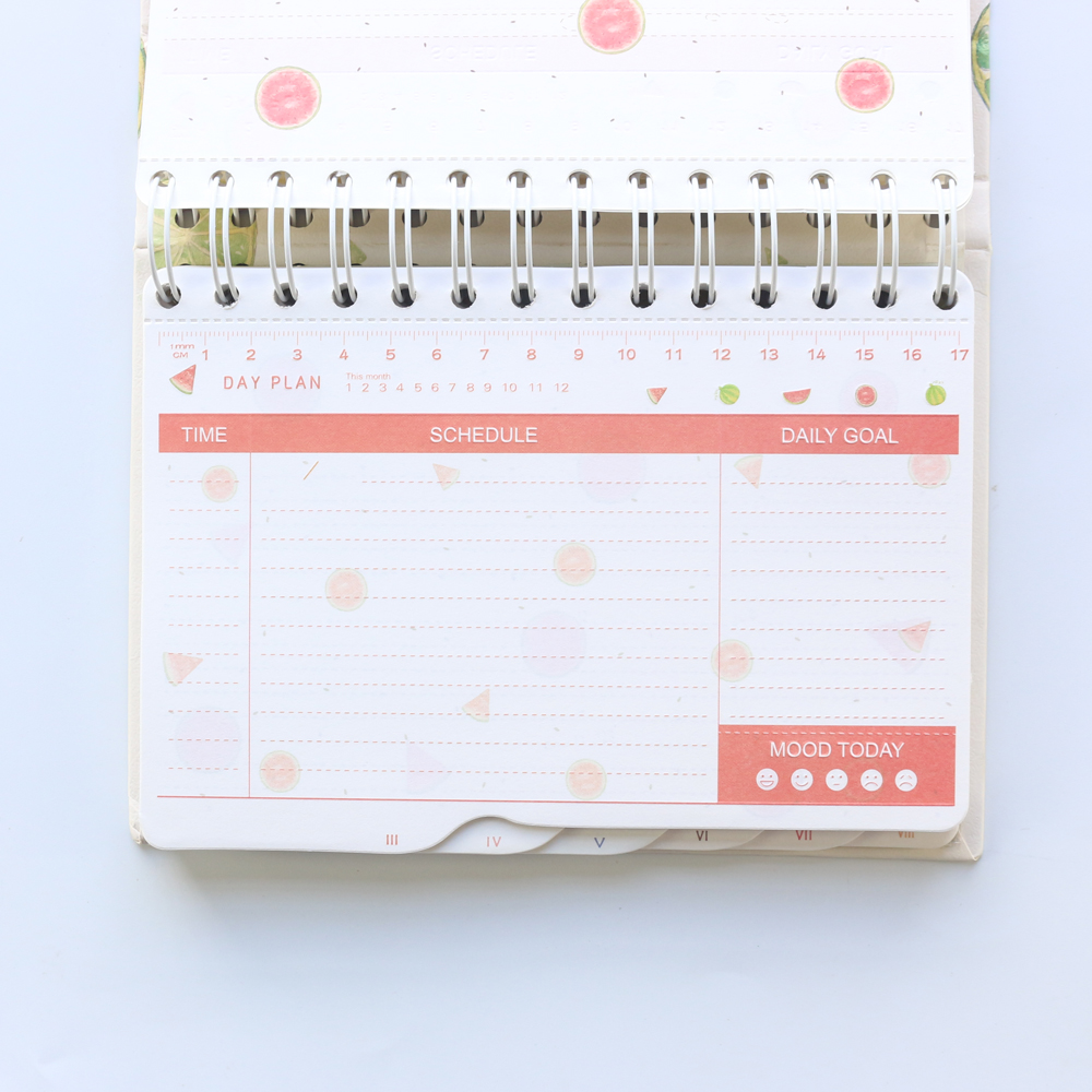 photo regarding Daily Planner Notebook known as US $13.18 2019 Fresh Lovely Fruit Sequence Everyday Weekly Planner Laptop computer Kawaii Everyday Plan Schedule Planner Organizer spiral Stationery A5-in just Planners
