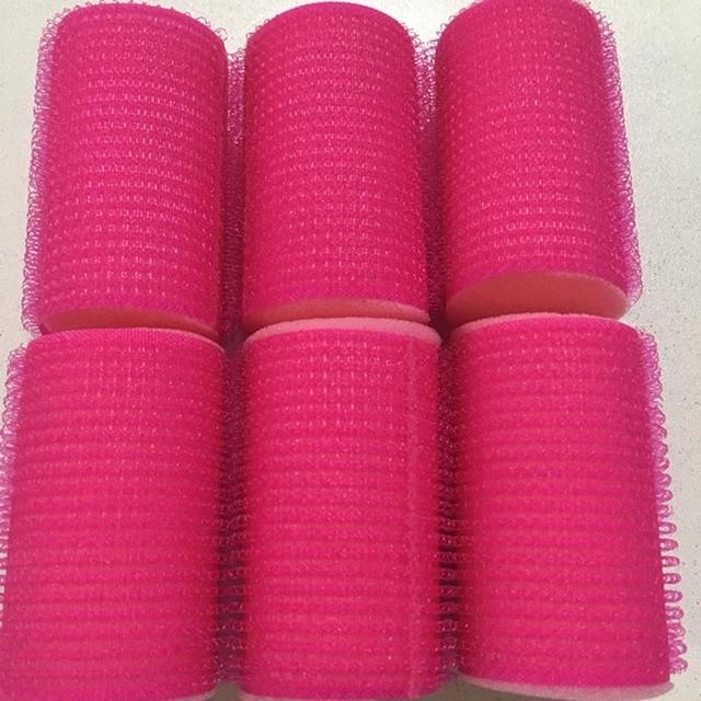 6 pcs Cabeleireiro Uso Doméstico DIY Magia Grande Auto-Adesivo Rolos de Cabelo Rolo Styling Rolo Curler Ferramenta de Beleza