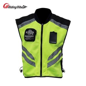 Image 1 - Motorcycle Jacket Reflective Vest High Visibility Night Shiny Warning Safety Coat for Traffic Work Cycling Team Uniform JK 22