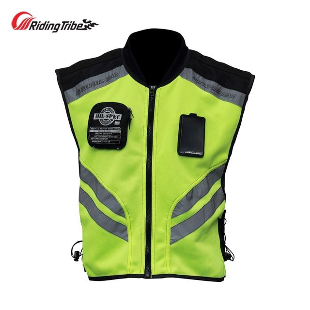 Motorcycle Jacket Reflective Vest High Visibility Night Shiny Warning Safety Coat for Traffic Work Cycling Team Uniform JK 22