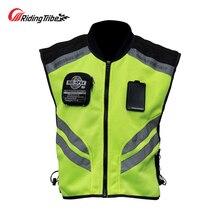 Motorrad Jacke Reflektierende Weste Hohe Sichtbarkeit Nacht Shiny Warnung Sicherheit Mantel für Verkehrs Arbeit Radfahren Team Uniform JK 22