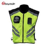 Riding Tribe Moto Reflective Jacket Motorcycle Safty Waistcoat Warning Clothing High Visibility Vest Team Uniform JK-22