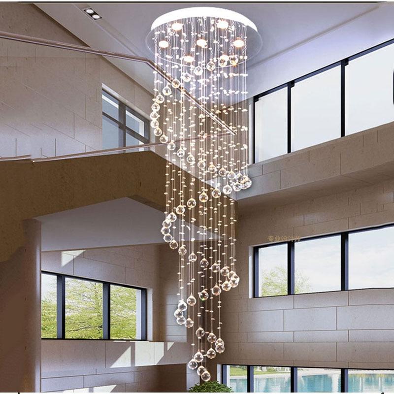 long drop lighting. luxury modern large big stair long spiral crystal chandelier lighting fixture for staircase rain drop pending