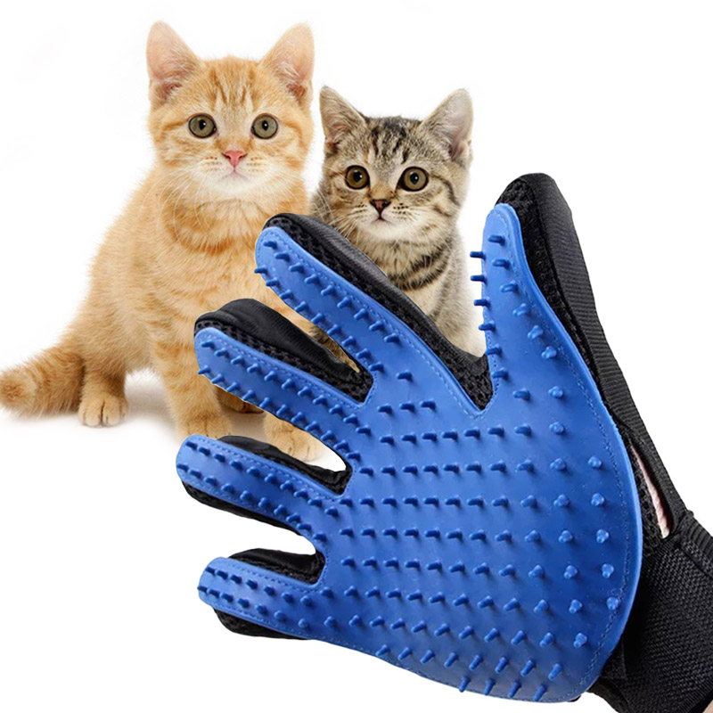 New Pet Brush Cat Dog Comb Care Glove Pet Shedding Salon Gloves Comb Hand Shaped Glove Five Fingers Pet Clean Comb