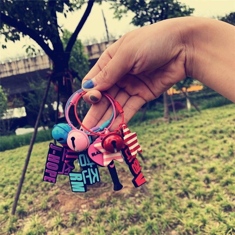 Kpop BLACKPINK IZONE Key Rings EXO GOT7 TWICE Silica Gel Key Ting Bag Pendant Keychain