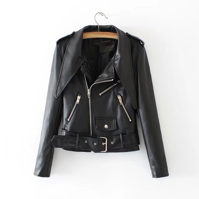 Hot Sale Brand Motorcycle PU Leather Jacket Women 2018 Winter ...