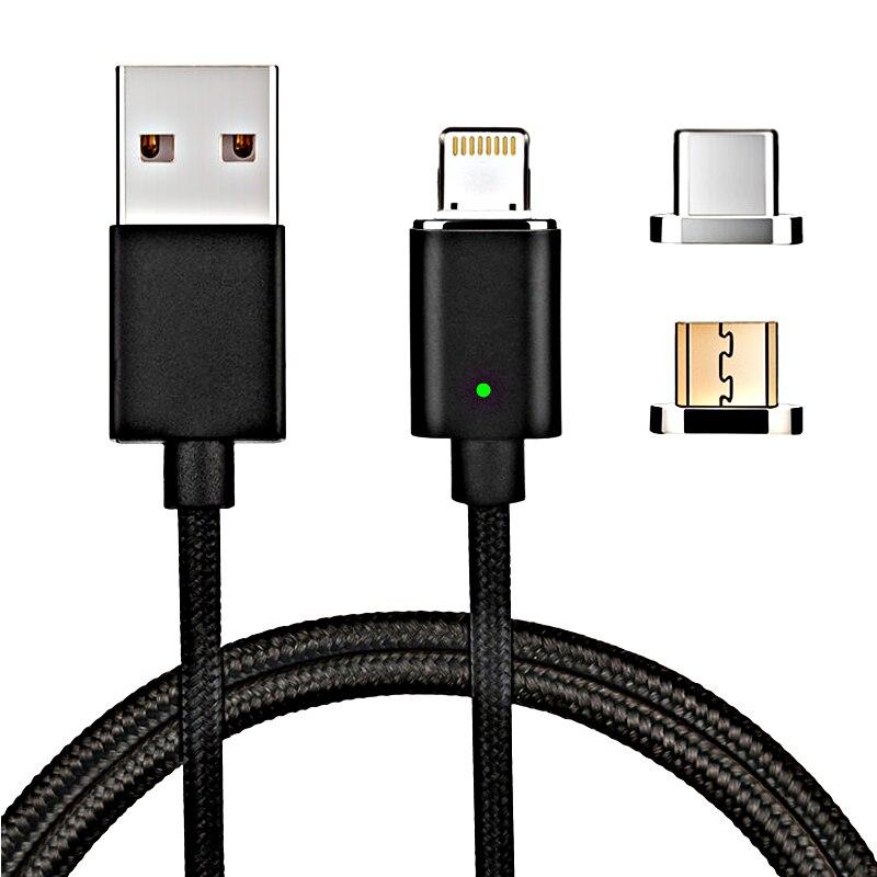 3 in 1 micro usb-kabel magnet gebühr für telefon schnelllade draht magnetischer fall für iphone 6 S samsung galaxy S9 huawei Honor 9