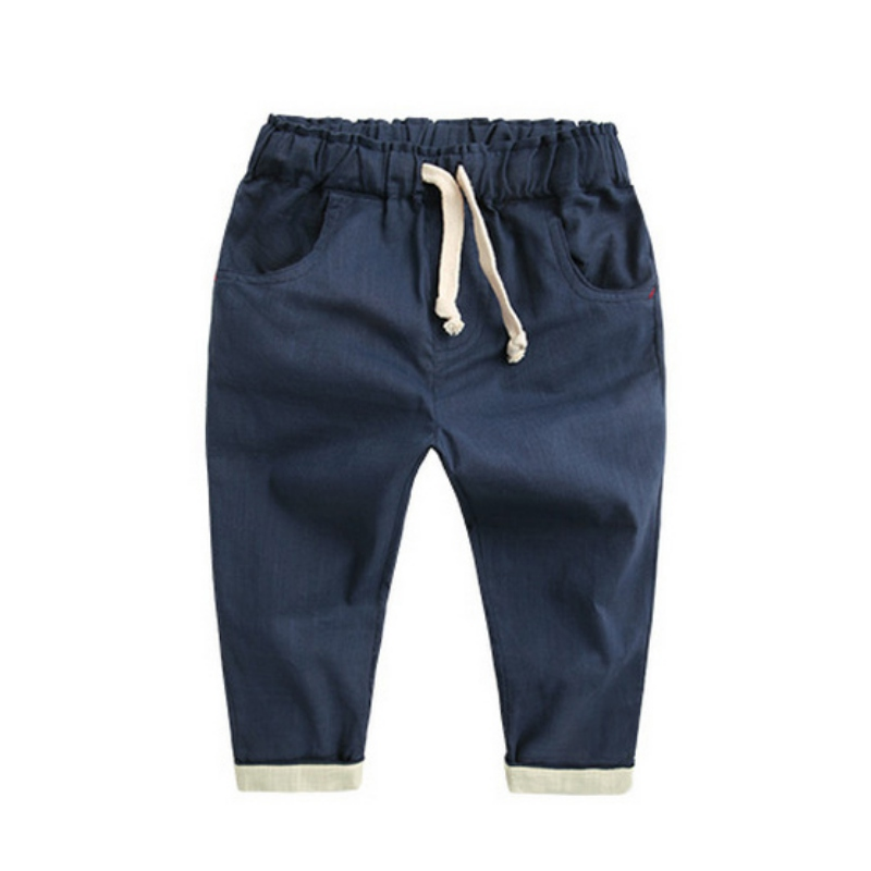 1540 White Mayoral Chino Trousers with Belt for Baby-Boys