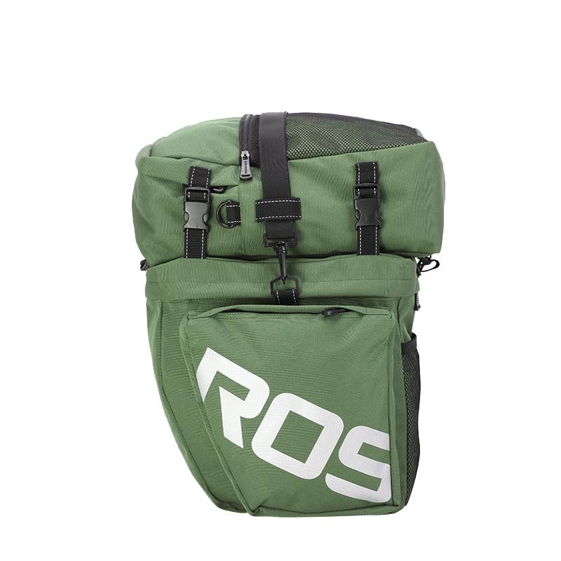 ROSWHEEL 14892 carretera de montaña bicicleta 3 en 1 baúl bolsas ciclismo doble lado Rack trasero cola alforjas asiento paquete luggage Carrier - 3