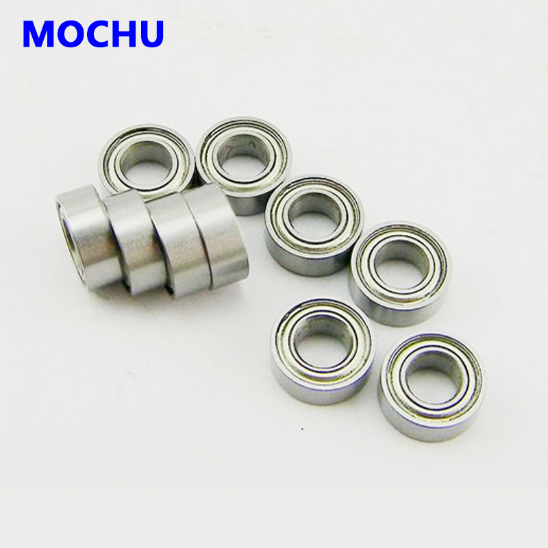 10pcs Bearing 6802 <font><b>6802ZZ</b></font> 61802-2Z 15x24x5 ABEC-1 MOCHU Shielded Deep groove ball bearings, single row image