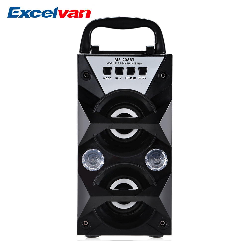Excelvan Speaker-Supports Fm-Radio Music-Play Bluetooth High-Power Portable Wireless