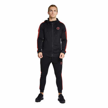 YEMEKE Fashion Men Set Long Sleeve Fitness Hoodies+Pants Set Male Tracksuit Outdoors Suit Men's Gyms Set Casual Sportswear Suit - DISCOUNT ITEM  32% OFF All Category