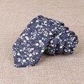 Moda Floral Dots Algodón Corbata de Los Hombres Corbatas de Marca Popular Casual Jacquard Flaco Corbatas Boda Corbata Gravata Corbata