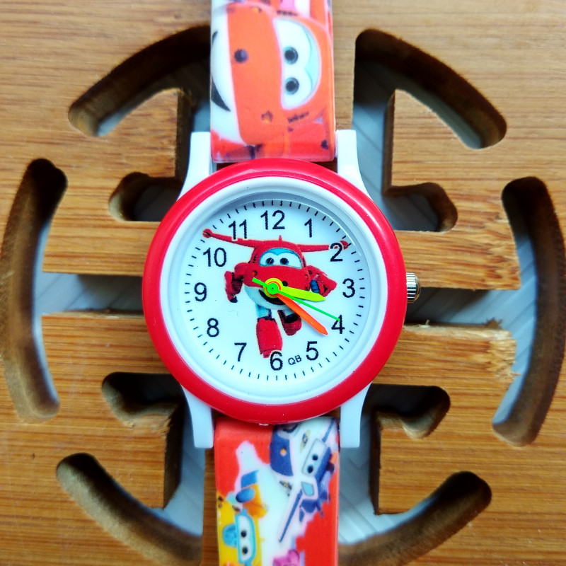 Printed Strap High Quality Children Watch Aircraft Car Child Watch Waterproof Kids Watches For Boys Girls Christmas Gift Clock