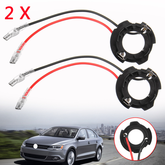 2x H7 LED Headlight Bulb Base Holder Retainer Headlamp Socket Adapter for Volkswagen for VW Golf 5 MK5 GTI Jetta