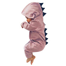 Newborn Infant Baby Boy/Girl Dinosaur Hooded Romper Jumpsuit Outfits