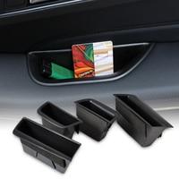 DWCX 4pcs Door Armrest Storage Box Container Phone Holder For Mercedes Benz C Class W204 2008 2009 2010 2011 2012 2013