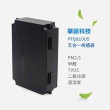 Cinco-em-um sensor detecta PTQS1005 PM2.5 formaldeído e TVOC dióxido de carbono e temperatura e umidade
