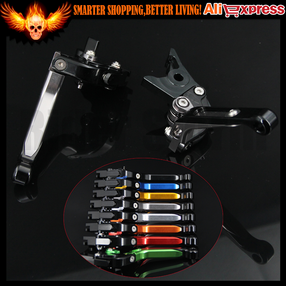 ФОТО Titanium Color(8 colors)Adjustable(Folding&Extendable)CNC Motorcycle Brake Clutch Levers For Moto Guzzi MGX21 2016