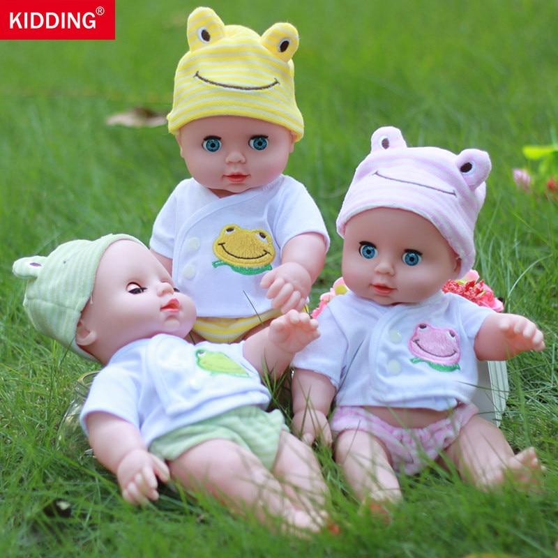 reborn dolls kawaii Baby Doll Toys blink cute Little baby girls bathing shower pretend play educational toy children kids gifts