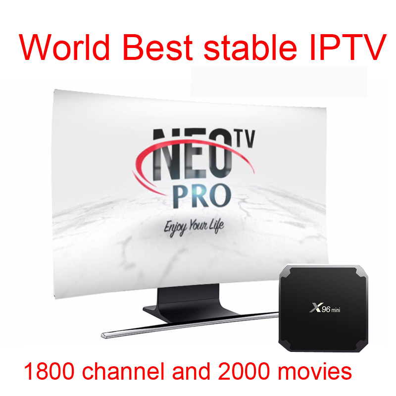 TV BOX android NEO TV PRO iptv subscription Europe French Arabic Italian belgium spanish IPTV code 1800 channel 2000 movies VOD ...