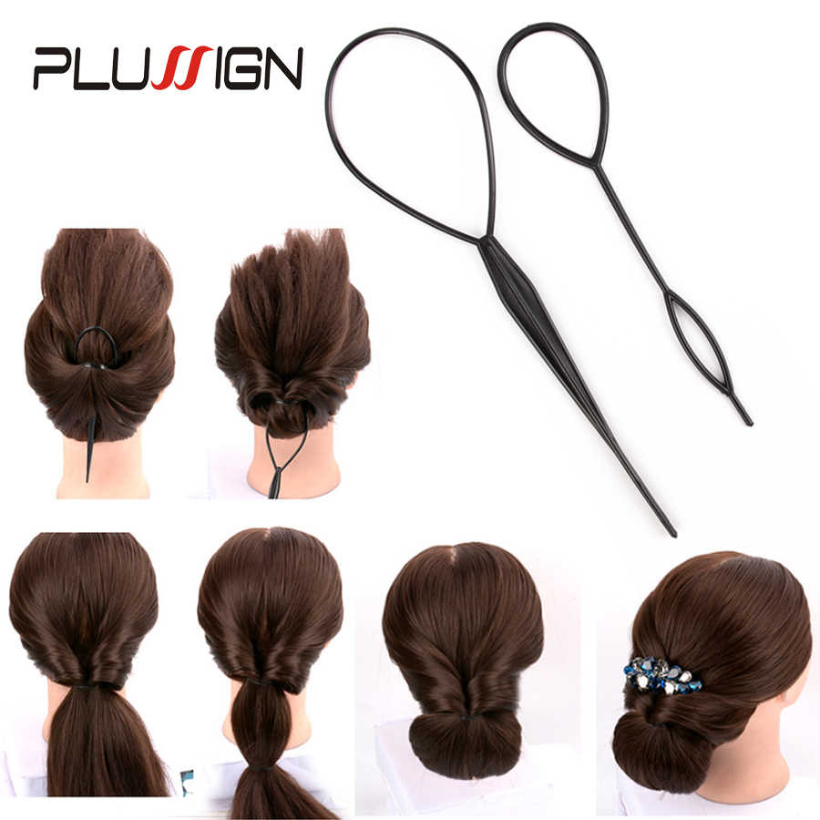 Fashion Ponytail Creator Plastic Loop Styling Tools Topsy Tail Hair Bun Maker Clip Hairstyles Styling Braid Accessories 4pcs