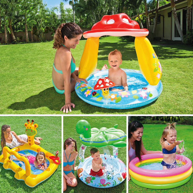 High Quality Lovely Cartoon Baby Swimming Pool Large Inflatable Pool for Babies Water Playing Game Baby Pool Gift Ocean Ball C01 environmentally friendly pvc inflatable shell water floating row of a variety of swimming pearl shell swimming ring